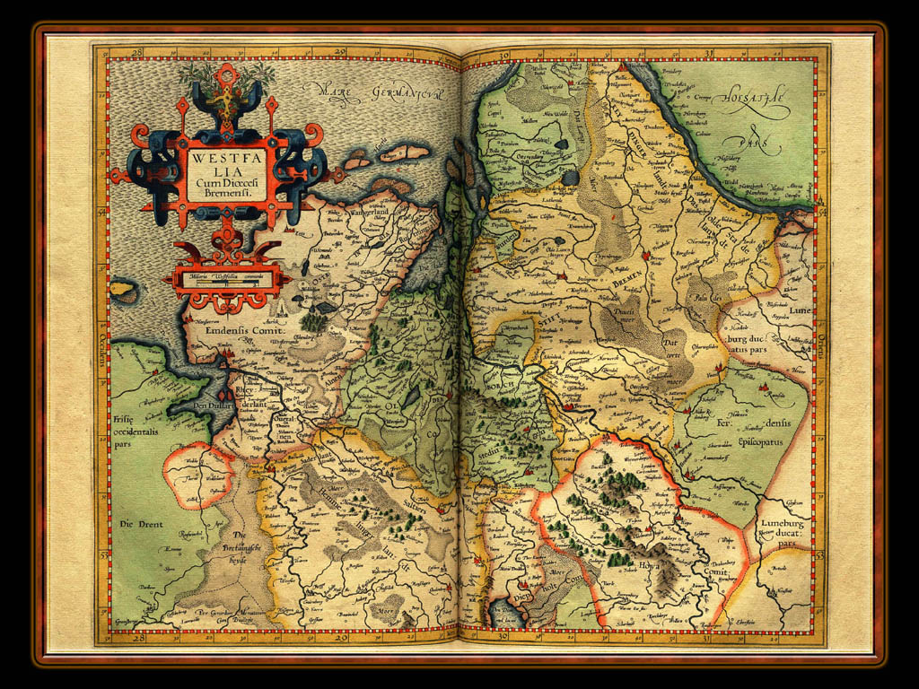 """Gerhard Mercator 1595 World Atlas - Cosmographicae"" - Wallpaper No. 45 of 106. Right click for saving options."