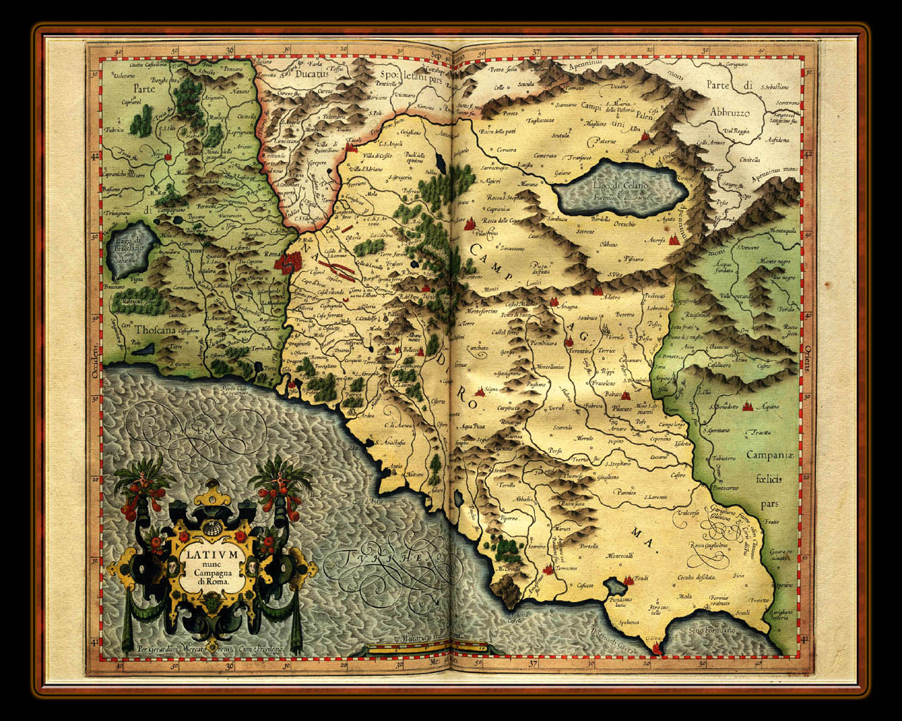 """Gerhard Mercator 1595 World Atlas - Cosmographicae"" - Wallpaper No. 12 of 106. Right click for saving options."
