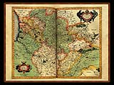 """Gerhard Mercator 1595 World Atlas - Cosmographicae"" - Wallpaper No.51.  Click for 640x480 or select another size."