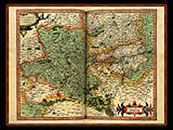 """Gerhard Mercator 1595 World Atlas - Cosmographicae"" - Wallpaper No.50.  Click for 640x480 or select another size."