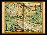 """Gerhard Mercator 1595 World Atlas - Cosmographicae"" - Wallpaper No.38.  Click for 640x480 or select another size."