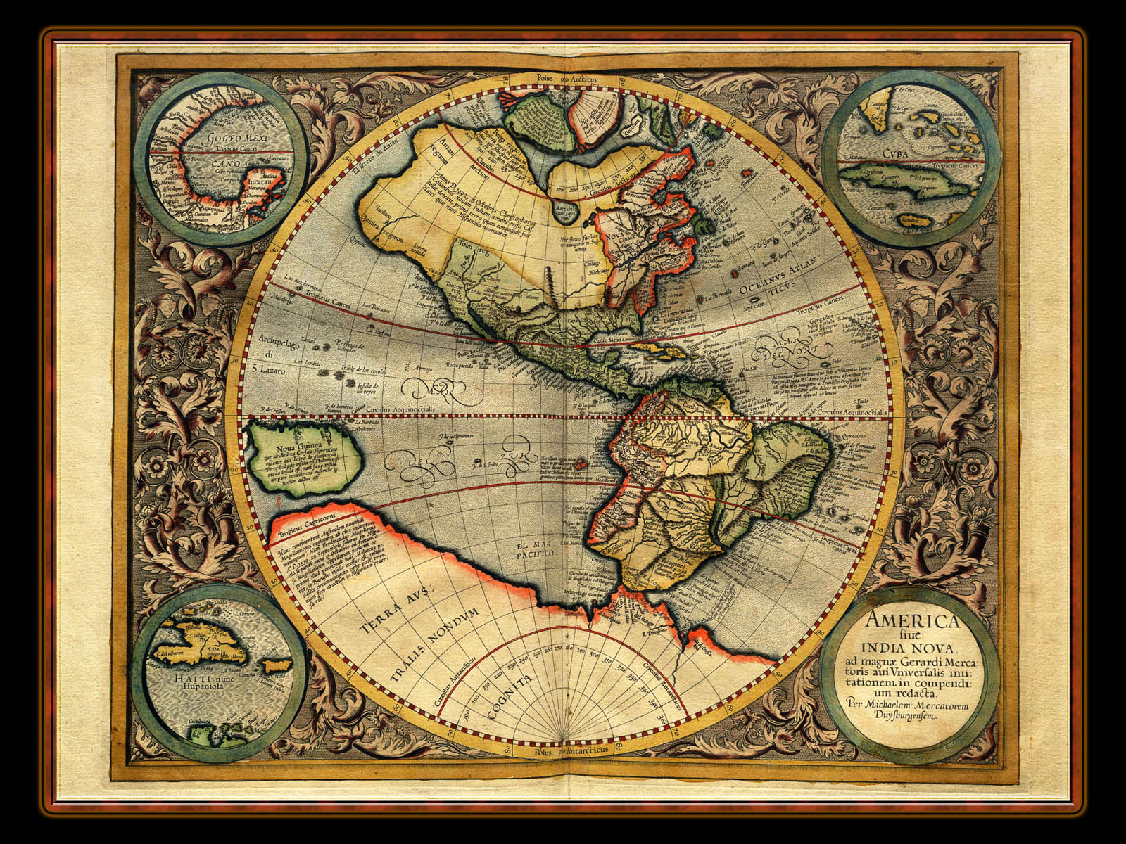 """Gerhard Mercator 1595 World Atlas - Cosmographicae"" - Wallpaper No. 102 of 106. Right click for saving options."