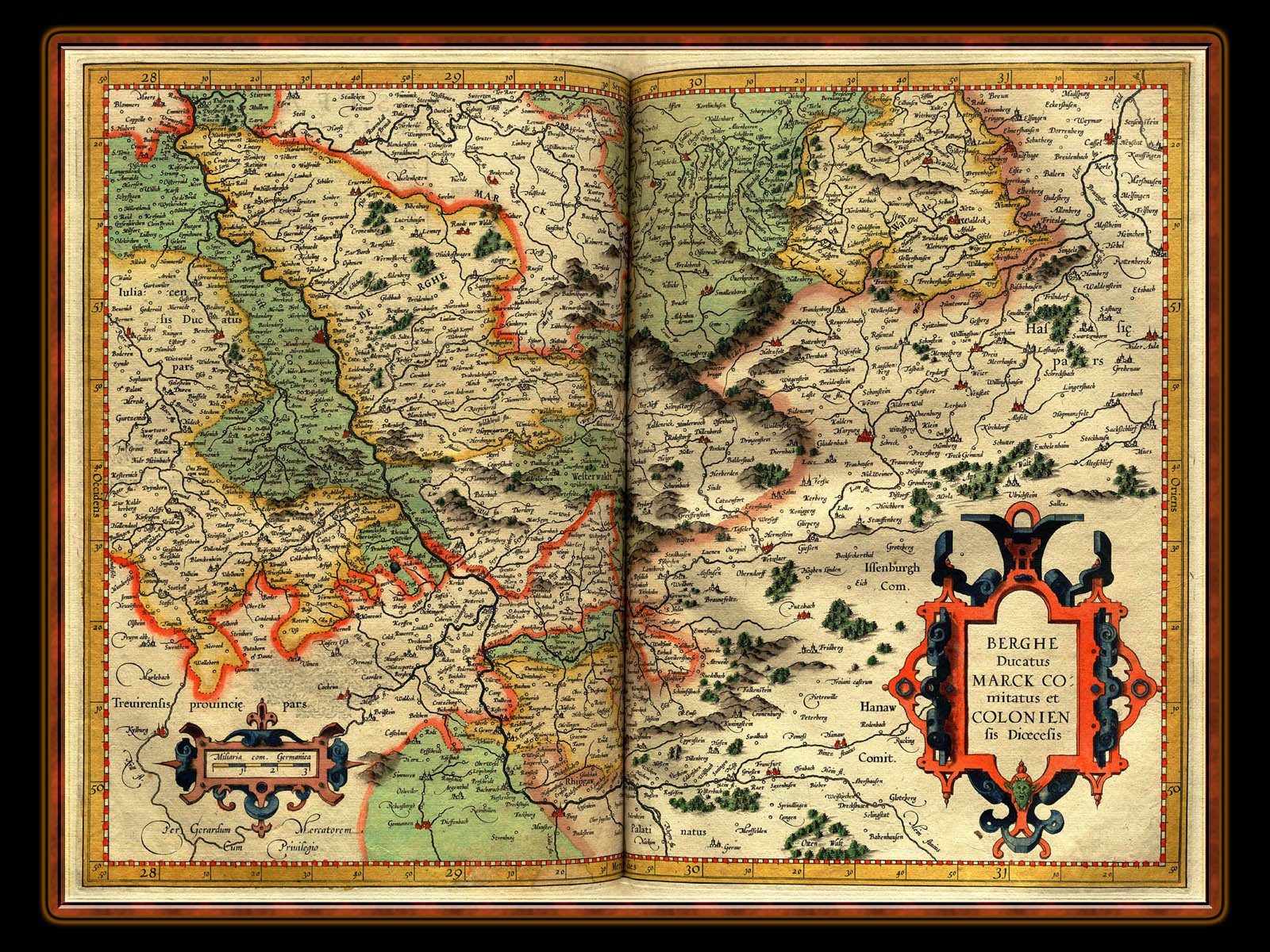 """Gerhard Mercator 1595 World Atlas - Cosmographicae"" - Wallpaper No. 43 of 106. Right click for saving options."
