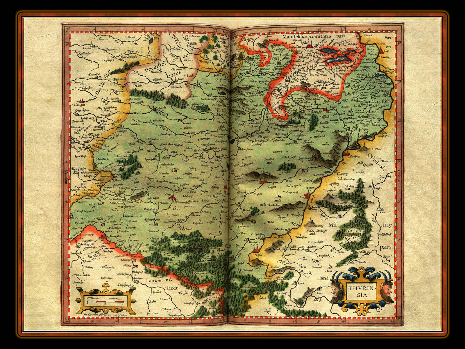 """Gerhard Mercator 1595 World Atlas - Cosmographicae"" - Wallpaper No. 34 of 106. Right click for saving options."