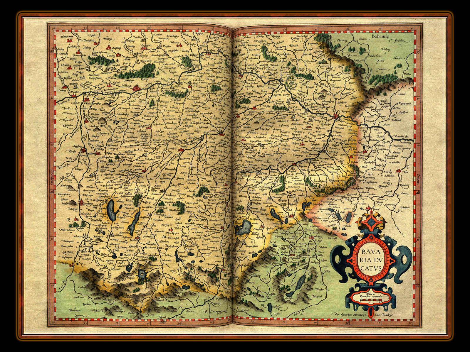 """Gerhard Mercator 1595 World Atlas - Cosmographicae"" - Wallpaper No. 32 of 106. Right click for saving options."