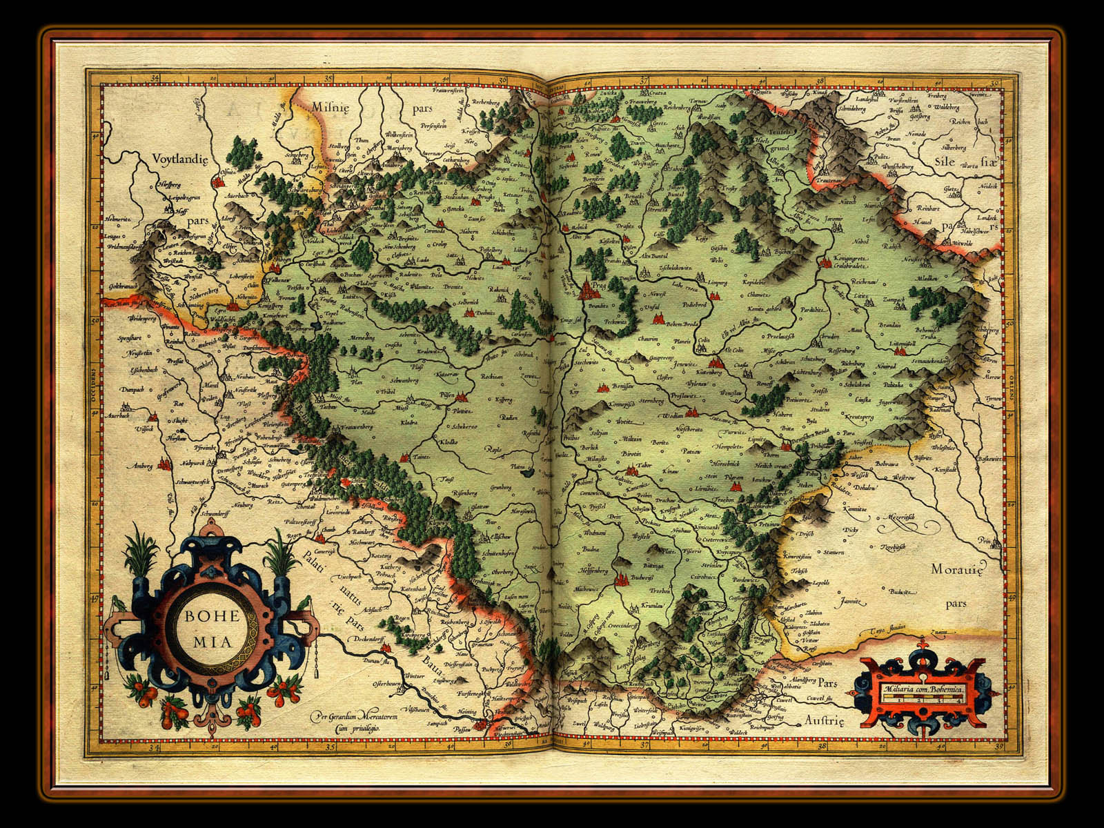 """Gerhard Mercator 1595 World Atlas - Cosmographicae"" - Wallpaper No. 28 of 106. Right click for saving options."